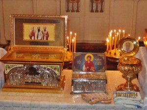 В Храм прибыли Святыни из Греции