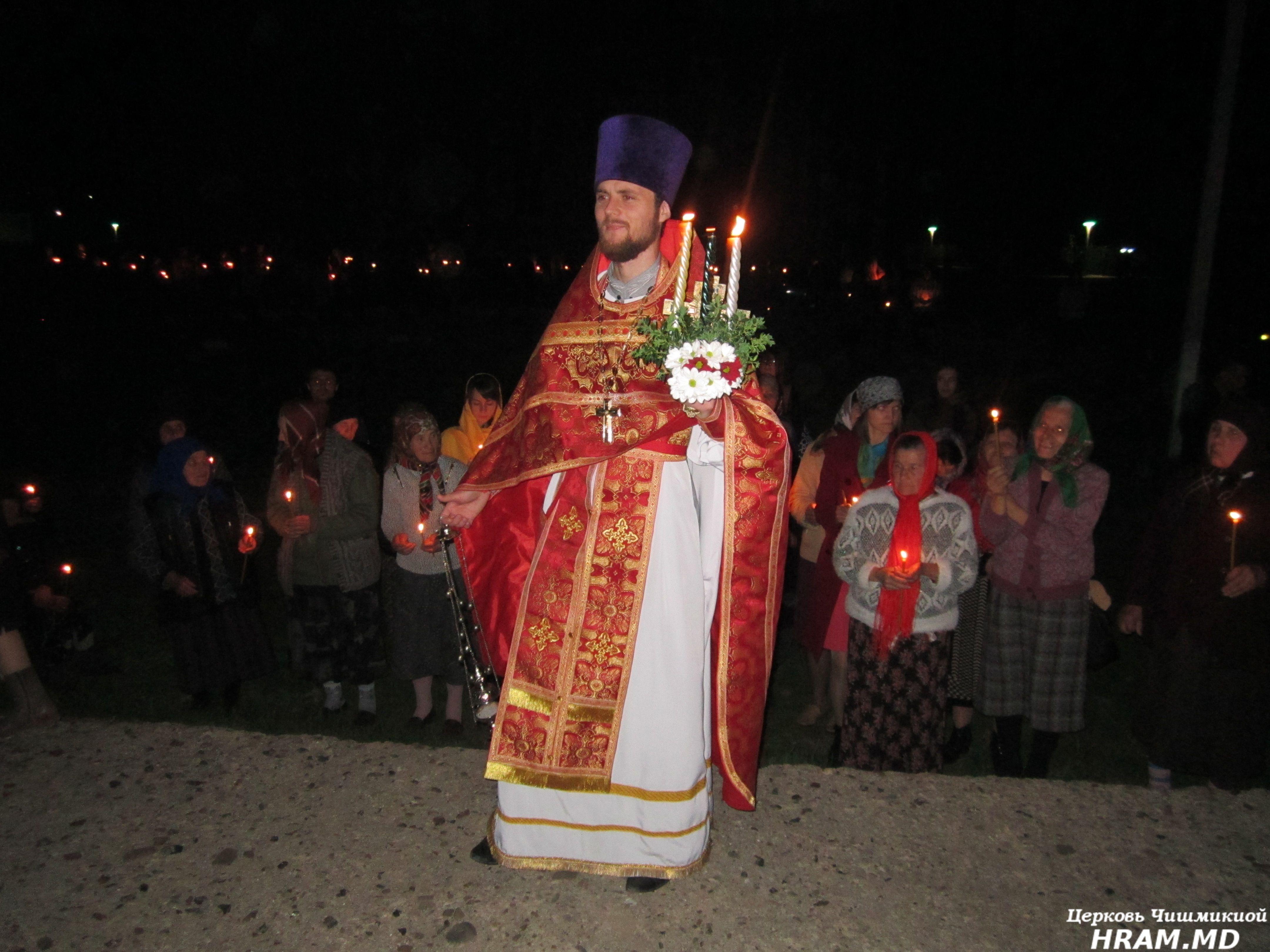 Пасхальная ночь в Успенском храме Чишмикиой